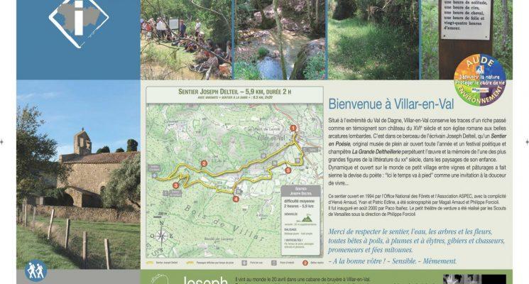 23-PANNEAU VILLAR EN VAL-Sentier en Poésie(J. Delteil) – Copie (2)